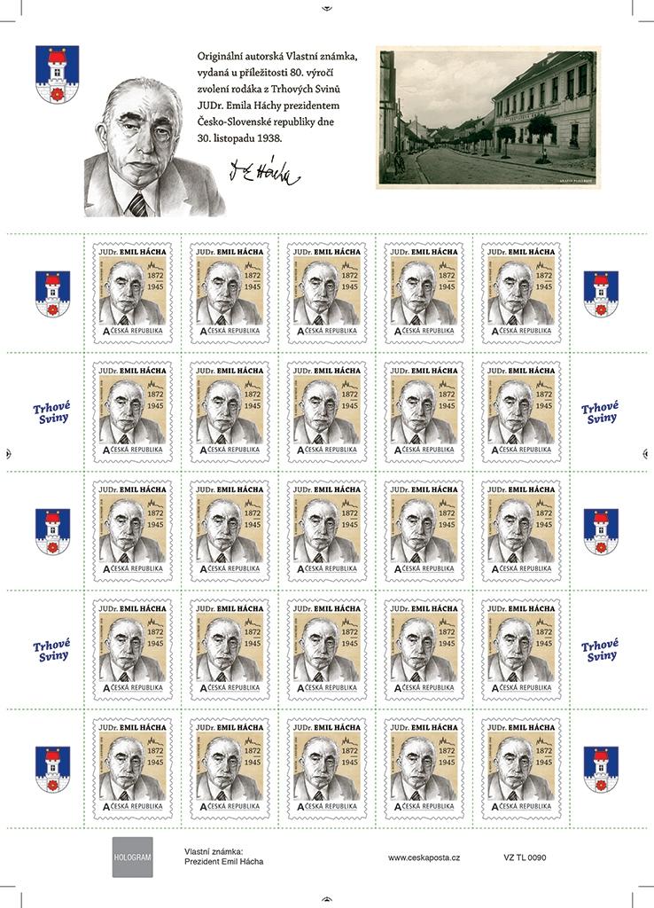 Emil Hácha – tiskový list